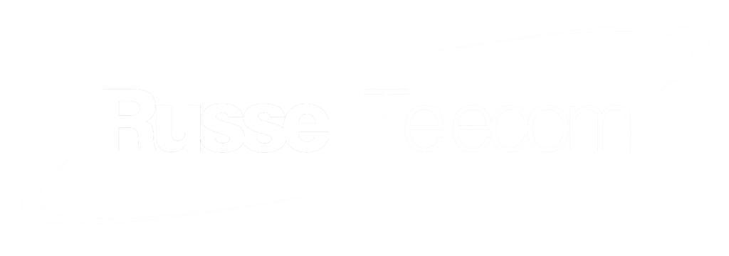 Russell Telecom Logo (White)